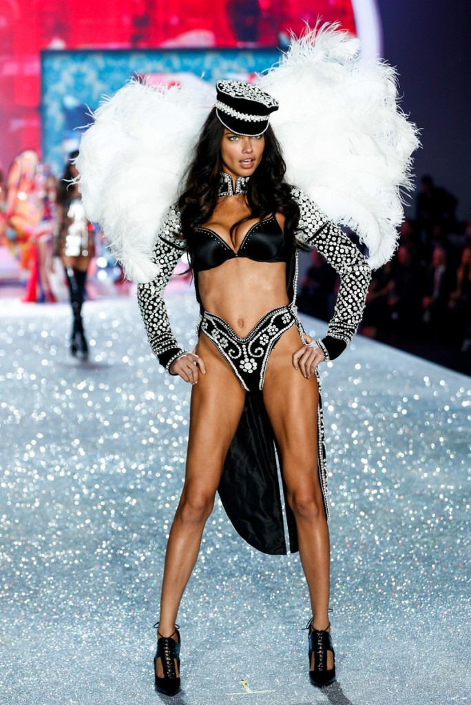 Adriana Lima walks the runway at the 2013 Victoria's Secret Fashion Show in New York City on November 13th, 2013